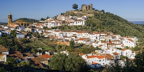 La población de Cortegana en Huelva