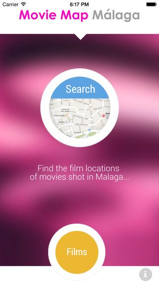 La aplicación Movie Map Málaga