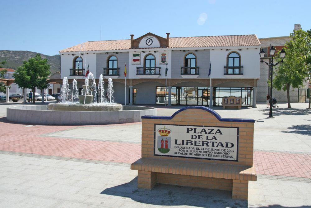 Arroyo de San Serván en la provincia de Badajoz