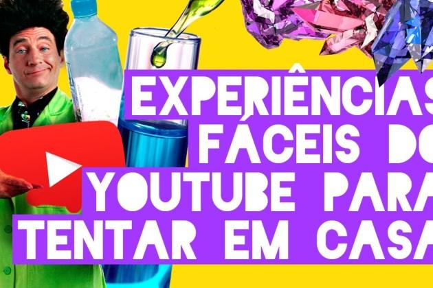 4 experiências científicas do YouTube para fazer em casa