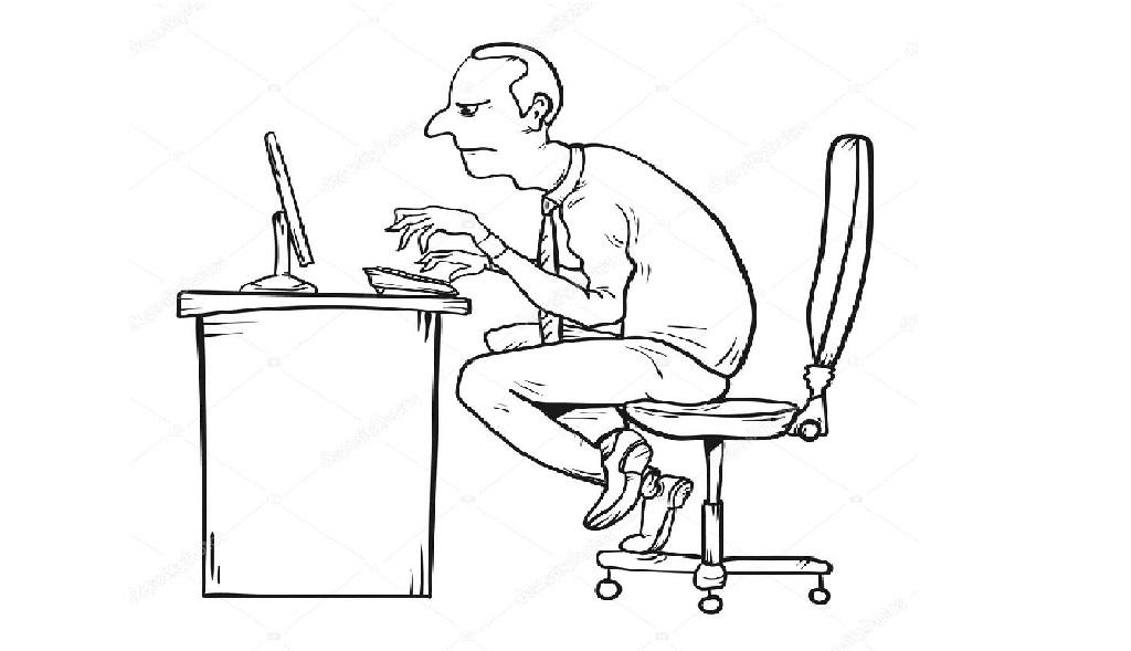 Saúde do Trabalhador: Observe a postura que você está sentado