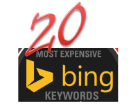 The 20 most costly keywords In Bing ads [Infographic]