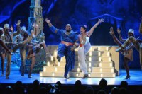 Casts of 'The Lion King' and 'Aladdin' On Broadway have interaction In Sing-Off At LaGuardia Airport (Video)