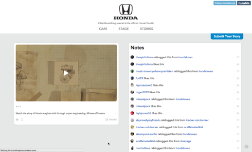 "Honda Follows Through Online After Debut Of Stunning 2-Minute ""Paper"" Animated TV Spot"