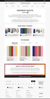 Topshop & Pinterest Unveil Pinterest Palettes For fashion Week fans & shoppers