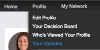 How long Updates exhibit for your latest task on LinkedIn