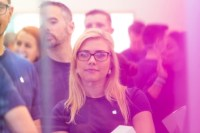 Apple's Angela Ahrendts, Maintaining Her Low Profile, Surprises At New Store Opening