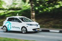 nuTonomy cabs ready for hailing in Singapore
