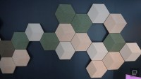 B&O hides high-end speakers in hexagonal wall art