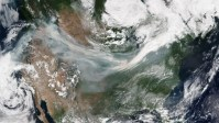 Watch: Smoke from the California wildfires travels all the way to Europe