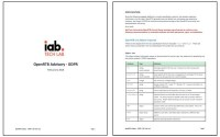 IAB Releases GDPR Advisory, Specifications
