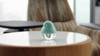 This hand sanitizer is shaped like a little bird. Will that make you use it?