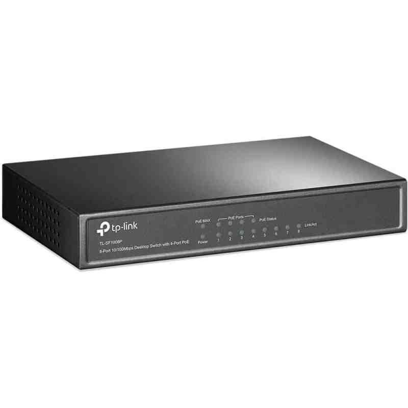 TP-Link TL-SF1008P with 4-Port PoE Desktop Switch
