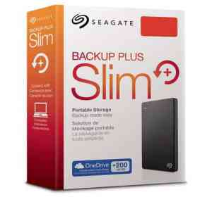 Seagate 2TB Backup Plus Slim Portable Hard Drive