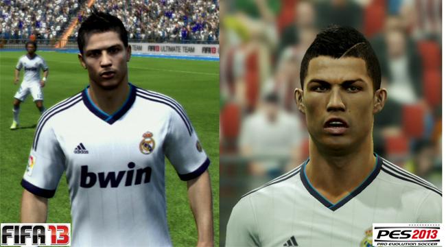 PES 2013 vs FIFA 13 CR7