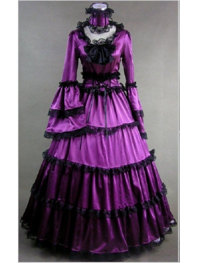 Purple Masquerade Gothic Ball Gowns