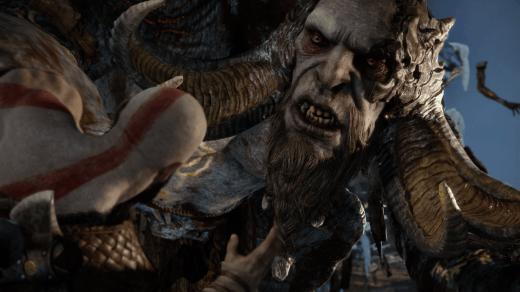 Kratos vs Troll in God of War
