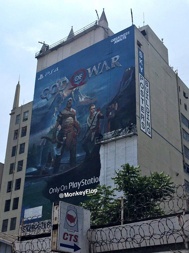 Cartellone pubblicitario God of War