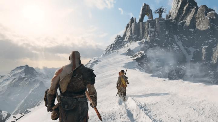 Montagne innevate, in God of War