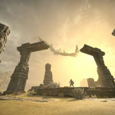 Colosso volante nel remake di Shadow of the Colossus