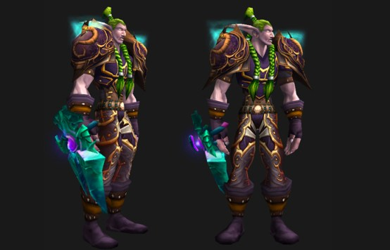 WoW Leather Transmog - Mountainscale Leather - Male Night Elf