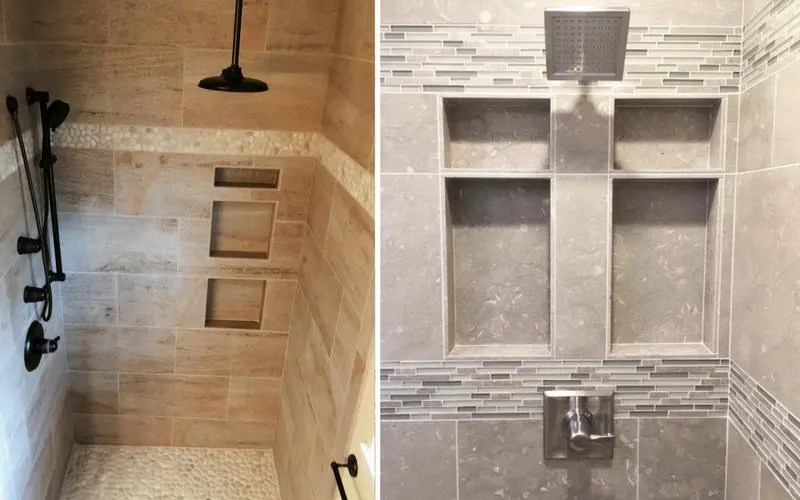 pros cons of 6 common shower storage