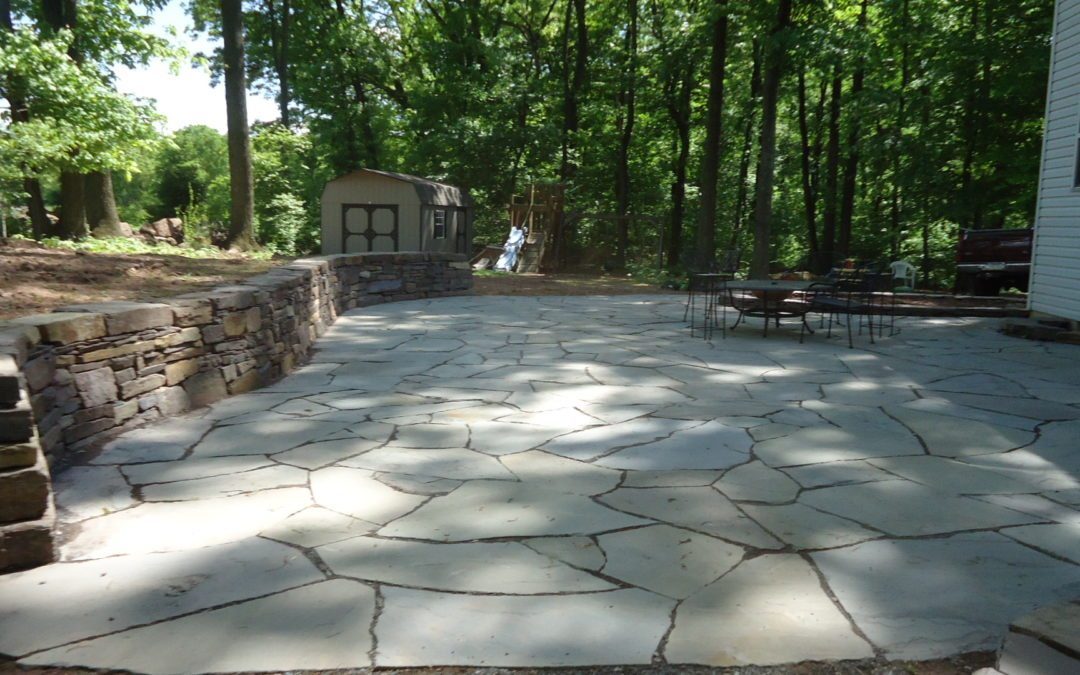 for flagstone installation