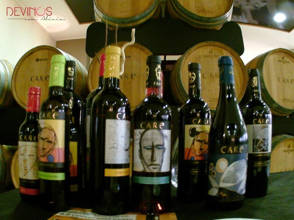 Exposición de Care Wines (Bodegas Añadas - Care Cariñena). Fuente: Devinos con Alicia