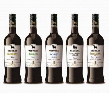 Gama Sherry Premium Osborne. Fuente [en linea]: www.osborne.es