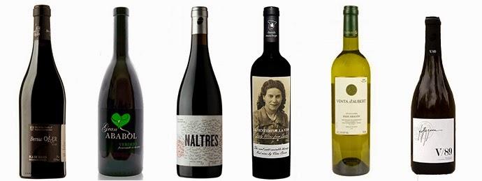 Ejemplos de vinos ecológicos españoles. Fuente [en línea]: www.informativos.net