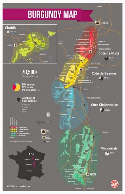 Mapa de Borgoña