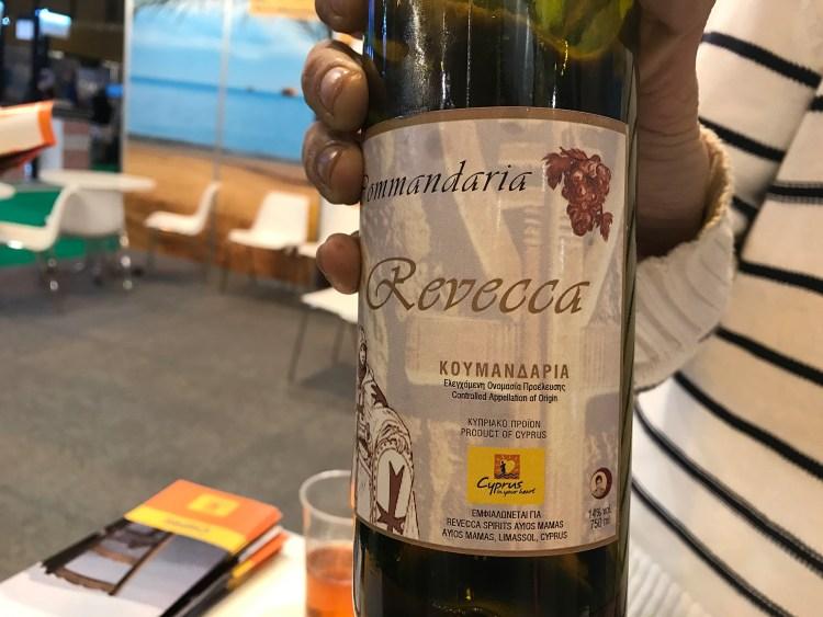 """Commandaria Revecca, """"El vino de los templarios"""". Copyright: Devinos con Alicia Gastroblog"""