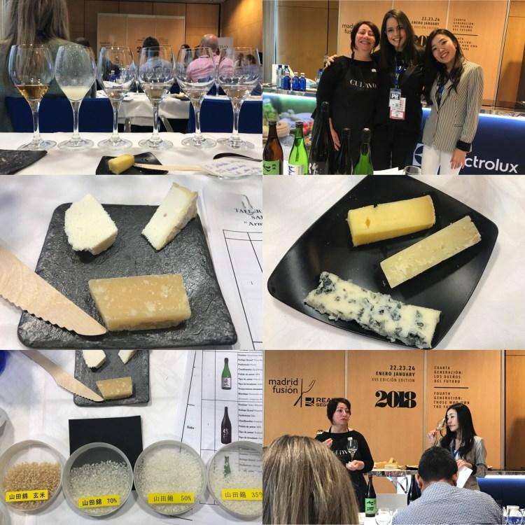 """Taller """"Sake y queso: armonías insólitas"""" por Shuwa Shuwa, Tokio Ya y Quesería Cultivo. Copyright: www.devinosconalicia.com"""