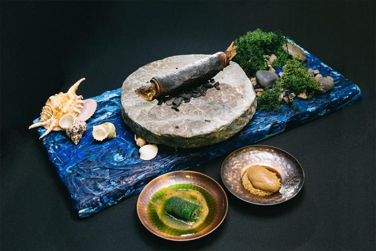 Across the sea, plato ganador elaborado por Yasuhiro Fujio. Copyright: S. Pellegrino Young Chef.