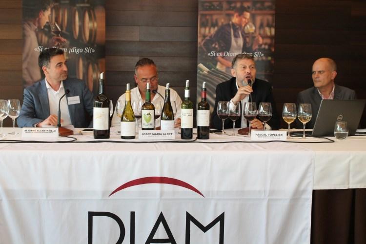 Clausura (i. a d.): Alberto Alcantarilla, Josep María Albet, Pascal Popelier y Antonio Palacios.