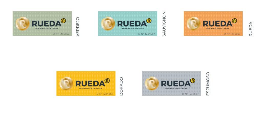 Nuevas contraetiquetas o tirillas de la D.O. Rueda. Copyright: D.O. Rueda