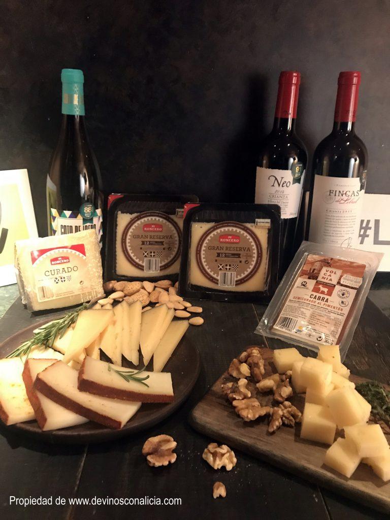 """Bodegón que auna la propuesta de quesos y vinos de supermecados Lidl, 10 de los cuales obtuvieron la Medalla de Oro dentro de Berliner Wein Trophy 2017 y su bodega obtuvo el galardón """"Mejor Selección de Vinos en Gran Superficie"""" en los International Wine Challenge Merchant Awards Spain 2018."""
