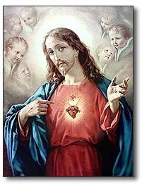 Estampa del Sagrado Corazón de Jesús]