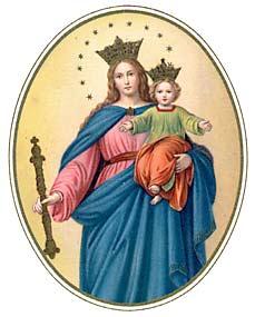 [Estampa religiosa de María Auxiliadora]