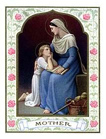 [Estampa de Santa Ana con la Virgen niña]