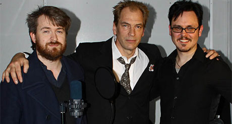 Julian Sands, Ashley Thorpe and Mick Grierson