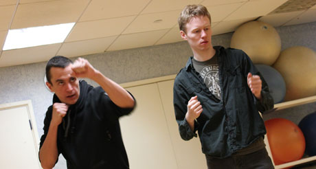 Preparing to fight: paranoid thriller They're Coming rehearsals underway