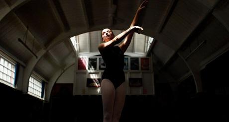 Nichola Tetlow film Watch Me Dance still a dancer is stood in shadow