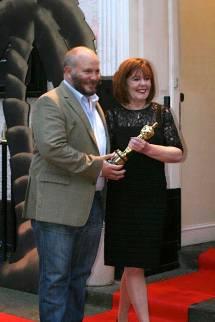 Gareth Unwin with Film Festival Chair Mary French
