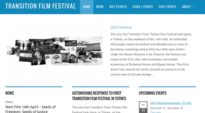 Films showing solutions to 21st century problems sought for Transition Town Totnes Film Festival
