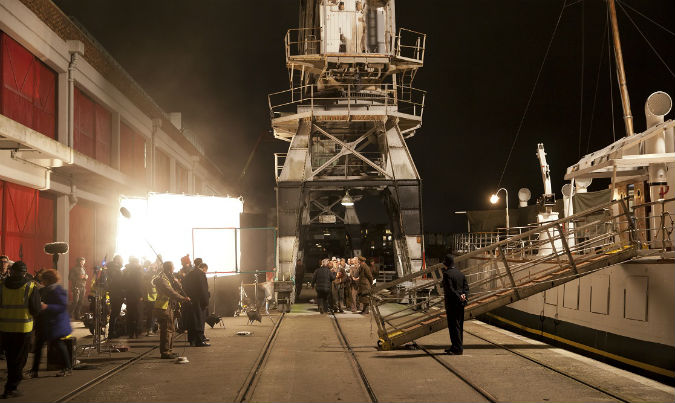 Another Mothers Son films on Bristol harbour_ Dec 2016