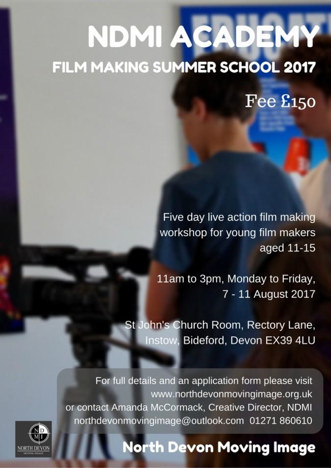 North Devon summer school for young filmmakers