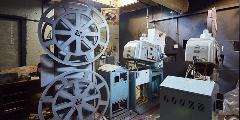 the projector room at the historic paignton picture house