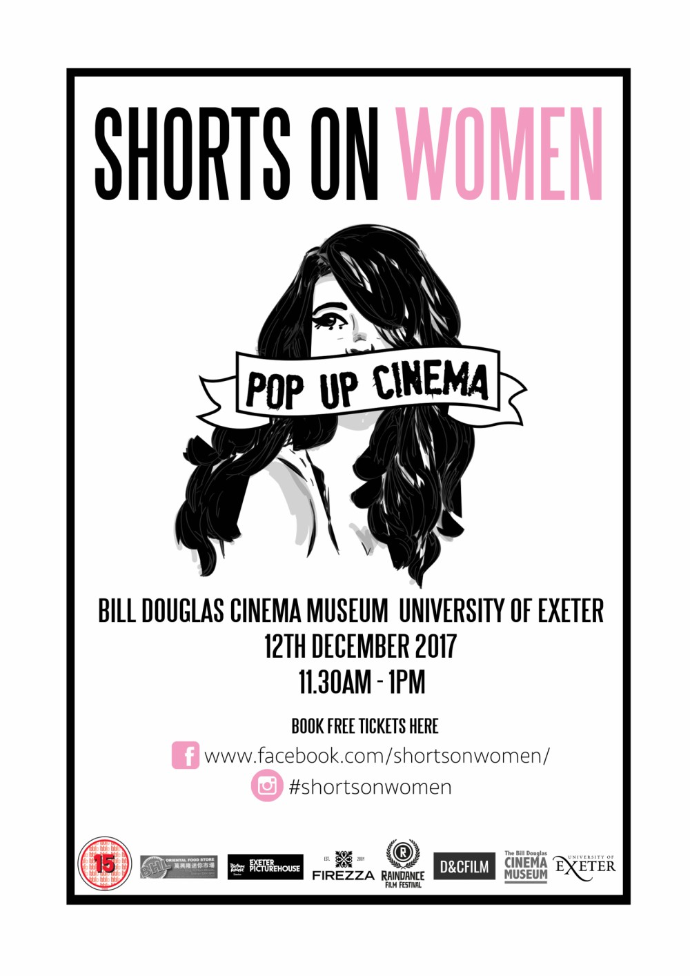 Shorts on Women, free pop-up cinema at Bill Douglas Museum, Exeter