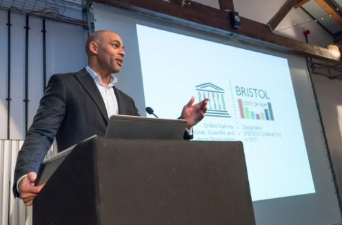 Mayor of Bristol Marvin Rees presents Bristol, UNESCO City of Film